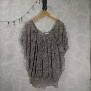 🆕Have Plum Gray Lace Top w/ Camisole 3X